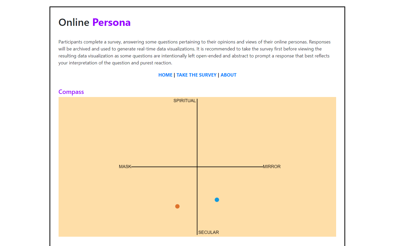 Online Persona Screenshot