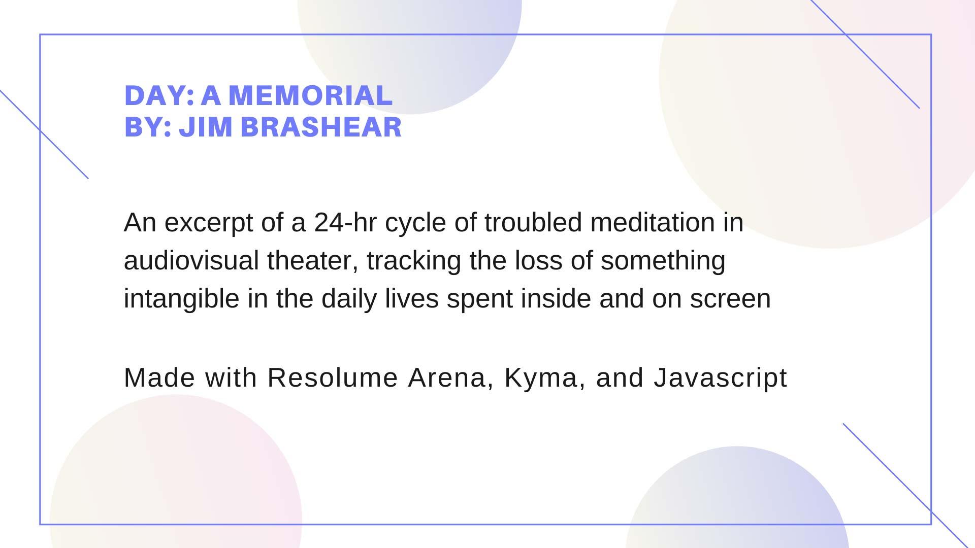 Day: A Memorial