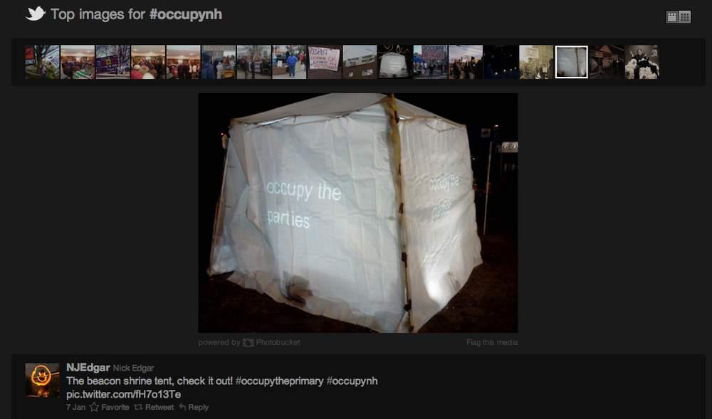 Beacon Occupy Encampment Image